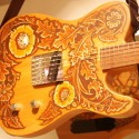 hand custom painted guitar