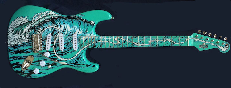 guitar, hand painted