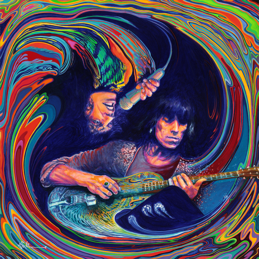 keith richards mick jagger painting